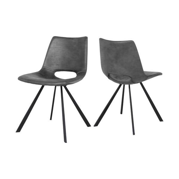 Antracitově šedá jídelní židle Canett Coronas