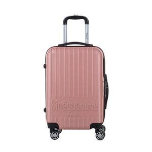 Světle růžový cestovní kufr na kolečkách s kódovým zámkem SINEQUANONE Iskra, 44l