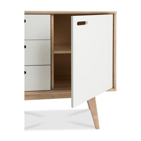 Ručně vyráběná skříňka z masivního březového dřeva Kiteen Alanko, 75x160cm