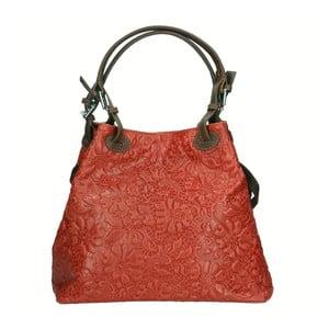 Geantă din piele Chicca Borse Origono, roșu