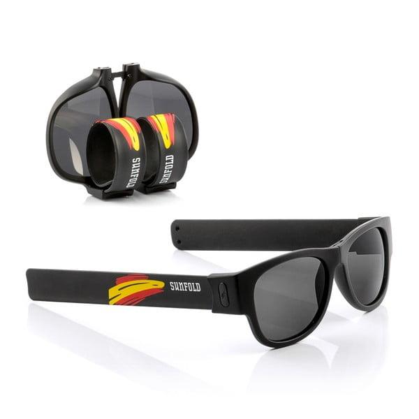 Ochelari de soare pliabili InnovaGoods Sunfold Mondial Spain Black, negru