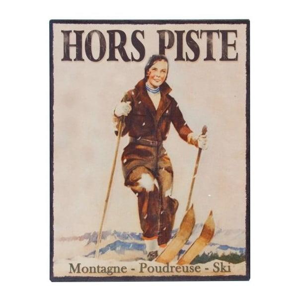 Nástěnná cedule Antic Line Hors Piste,25x33cm
