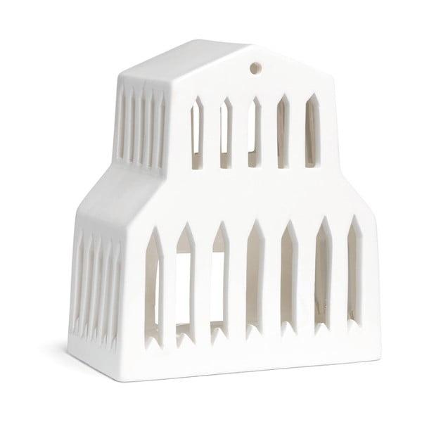 Urbania Lighthouse Basilica fehér kerámia gyertyatartó - Kähler Design
