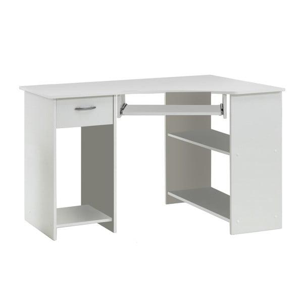 Bílý rohový pracovní stůl 13Casa Felix