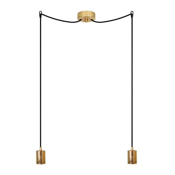 Dvojité závěsné kabely Cero, zlatá/bílá/zlatá