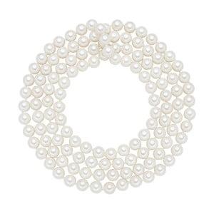 Lănțișor cu perle albe  ⌀ 8 mm Perldesse Muschel, lungime 120 cm