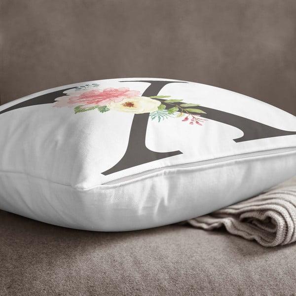 Față de pernă Minimalist Cushion Covers Floral Alphabet X, 45 x 45 cm