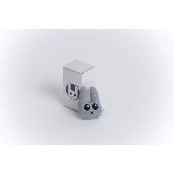 Mini plyšák Zajíc v krabičce, šedý
