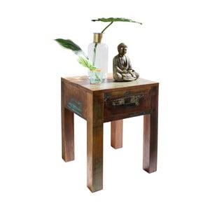 Odkládací stolek se zásuvkou z recyklovaného mangového dřeva Skyport DELHI
