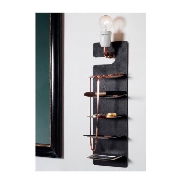 Závěsná police Smardrobe 50x15 cm, černá a bříza