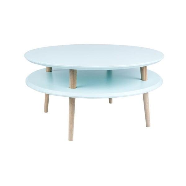 Konferenční stolek UFO 35x70 cm, světle modrý