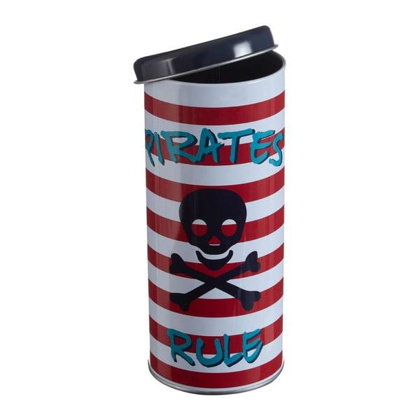 Kulatá cínová dóza Premier Housewares Pirate, Ø 8 x 18 cm