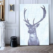 Obraz Stag Blue, 75x100 cm