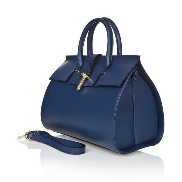 Modrá kožená kabelka Markese Sulio