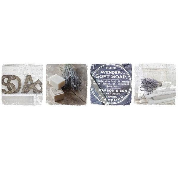 Obraz Levandulové mýdlo, 120x30 cm