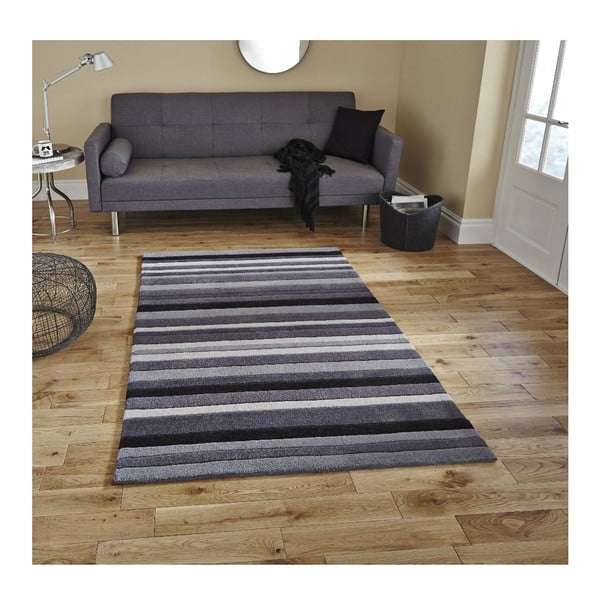 Covor Think Rugs Hong Kong Grey, 90 x 150 cm, gri