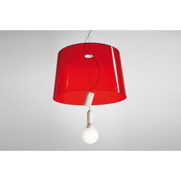 Závěsné svítidlo Pedrali L001S/B, červené transparentní