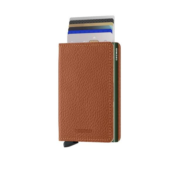 Hnědá kožená peněženka s pouzdrem na karty Secrid Lana