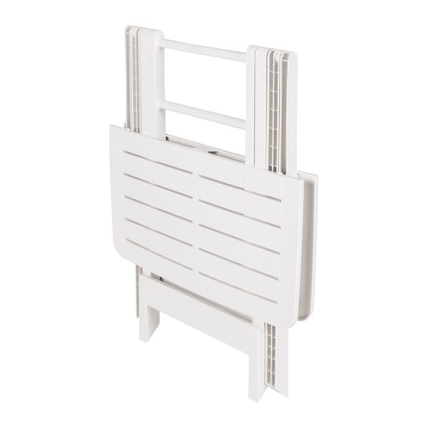 Bílý skládací zahradní stolek Crido Consulting Hunna