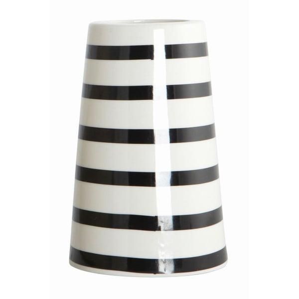 Váza Black/White Stripes
