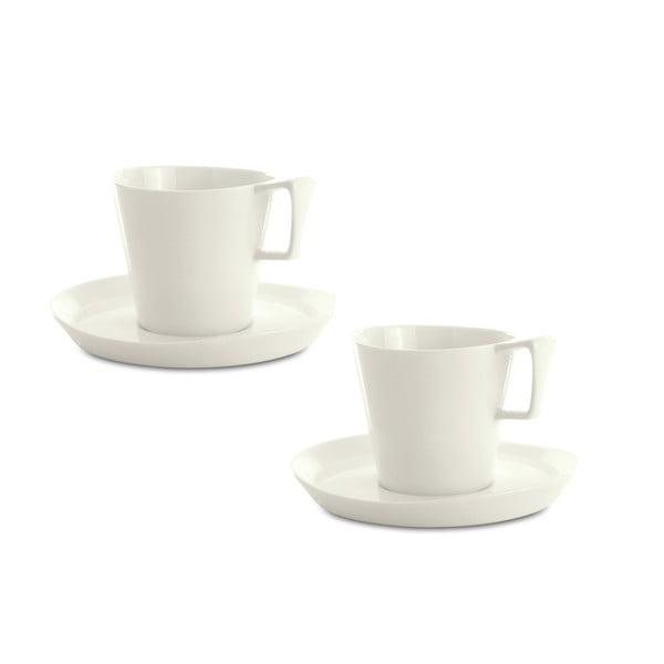 Sada 2 kávových šálků s podšálkem Eclipse, 80 ml