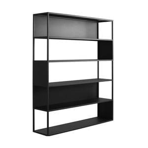 Černá knihovna Custom Form Hyller Side, výška180cm