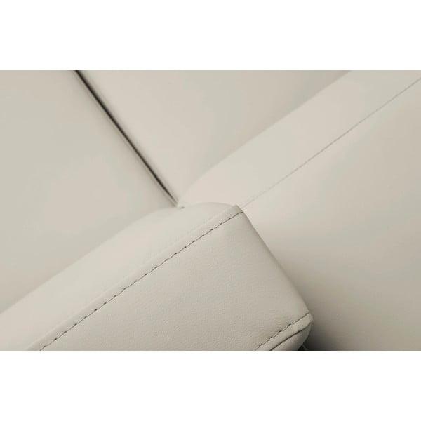 Béžová rozkládací rohová pohovka koženkového vzhledu Windsor & Co Sofas Gamma, pravý roh