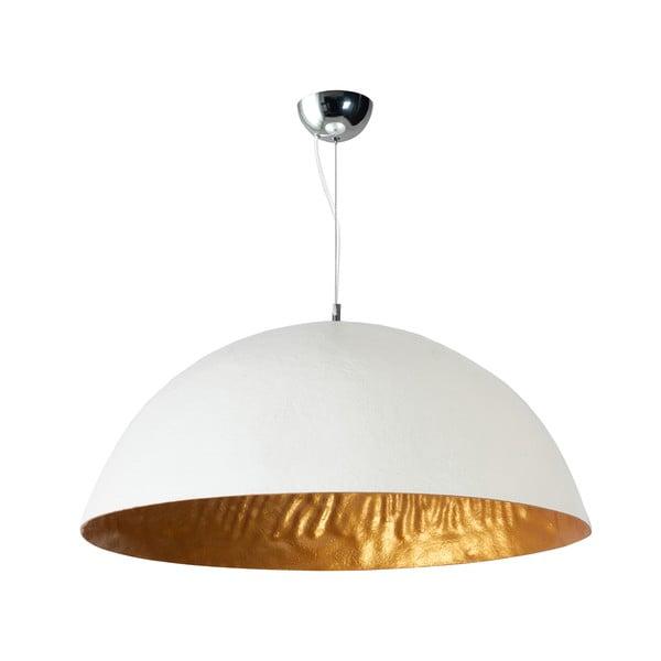 Biało-złota lampa wisząca ETH Mezzo Tondo, ⌀ 70 cm