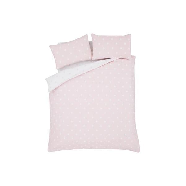 Povlečení Brushed Polka Pink, 200x200 cm