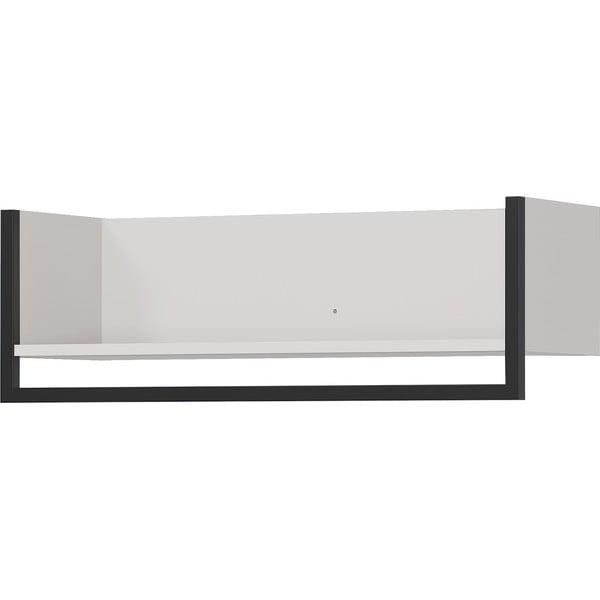 Biała półka z wieszakiem na odzież Germania Madeo, szer. 76 cm