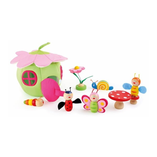 Domeček na hraní s dřevěnými figurkami Legler Spring