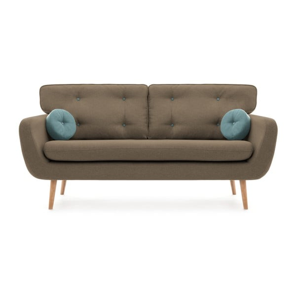 Canapea cu 3 locuri Vivonia Malva, bej - albastru