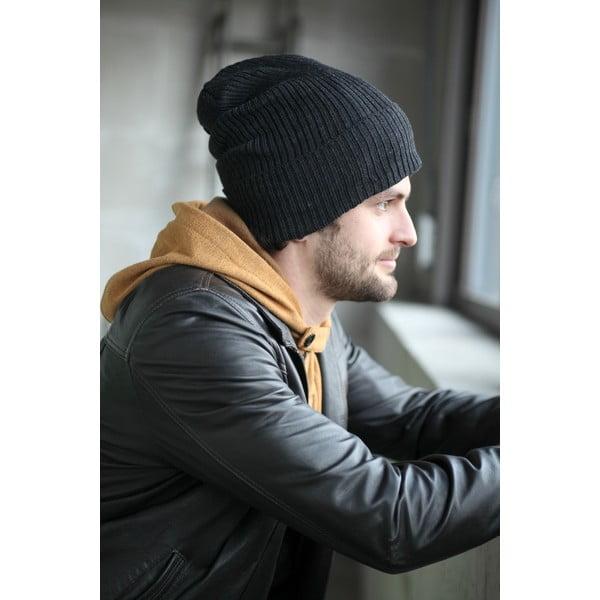 Antracitová čepice s ochrannými prvky Ribcap Lenny, vel. S