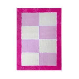 Dětský koberec Mavis Pink Squares, 100x150 cm