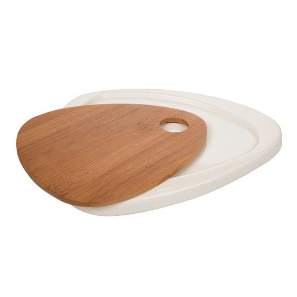 Servírovací talíř Tagliere In Bamboo White