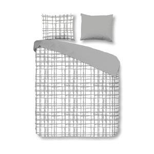 Povlečení Check Grey, 140x200 cm