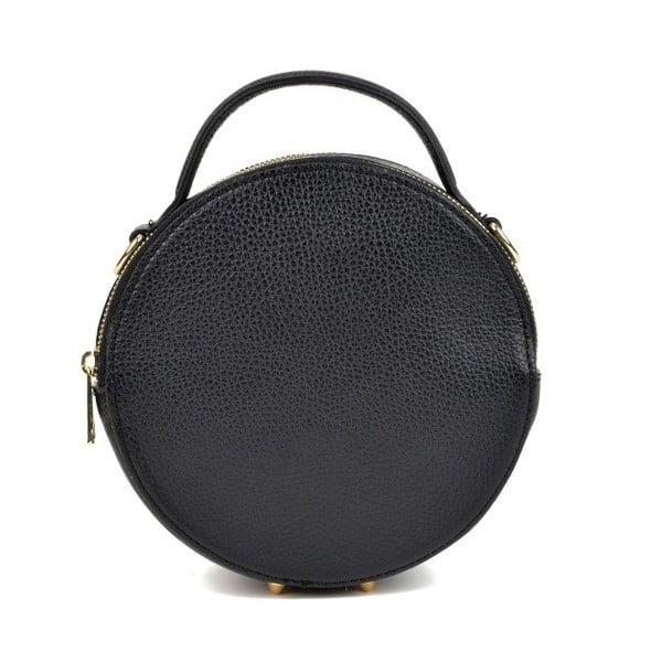 Čierna kožená listová kabelka Isabella Rhea Pargo