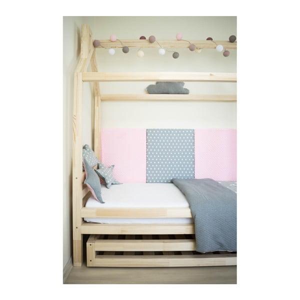 Dětská bílá postel z borovicového dřeva Benlemi Happy,90x200cm