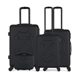 Sada 4 černých cestovních kufrů na kolečkách GENTLEMAN FARMER Integre & Vanity