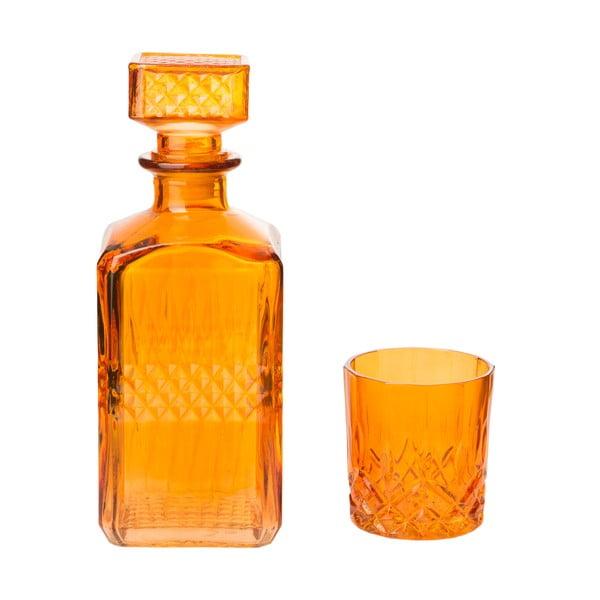 Dekantér s 6 skleničkami Orange, 850 ml