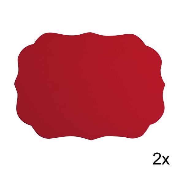 Set prostírání Rosso, 2 ks