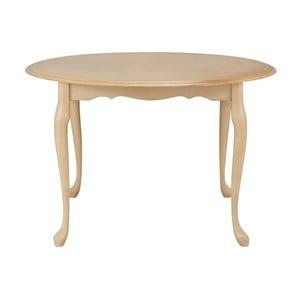 Krémový jídelní stůl z kaučukového dřeva Støraa Charles, Ø90cm