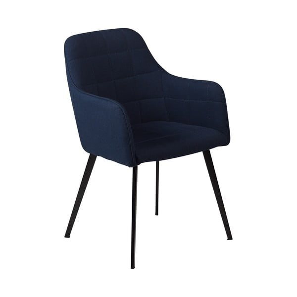 Scaun cu cotiere DAN-FORM Embrace, albastru închis
