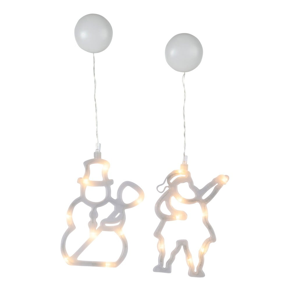 Sada 2 svítících LED dekorací Best Season Silhouettes