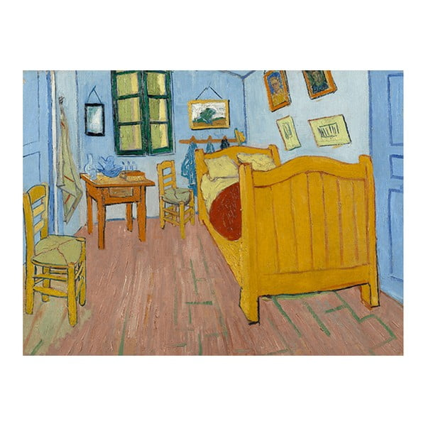 Reprodukce obrazu Vincenta van Gogha - The Bedroom, 40 x 30 cm