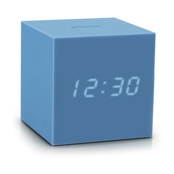 Ceas deșteptător cu LED Gingko Gravity Cube, albastru