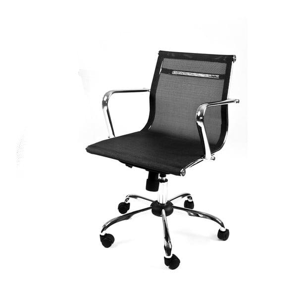 Pracovní židle na kolečkách Leila, černá