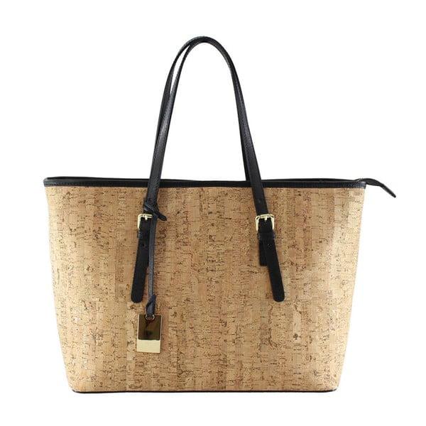 Černá kožená kabelka Kim