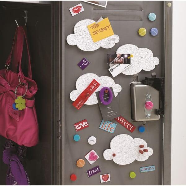 Sada 4 korkových nástěnek Design Ideas Mini Cloud