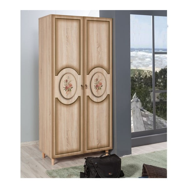 Dřevěná šatní skříň Ursula Clasic